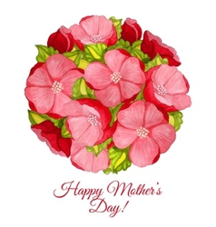 Greeting card for Mothers day with flowers of vector image vector image