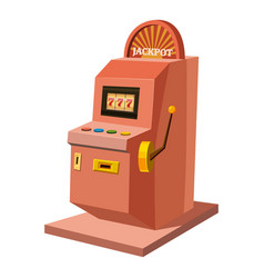 slot machine icon cartoon style vector image vector image