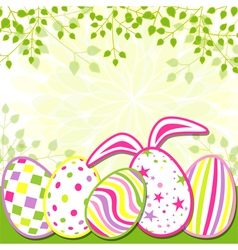 Springtime Easter Holiday Greeting Card vector image vector image