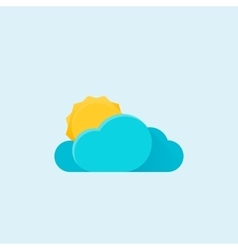 Sun and cloud weather Modern material design icon vector image vector image
