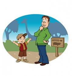 zoo trip vector image vector image