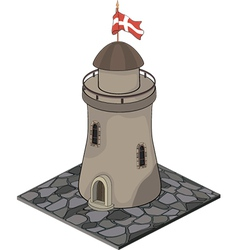A video game object Watchtower vector image