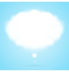 Abstract cloud speech bubble vector image