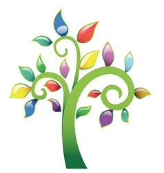 Abstract tree vecor icon vector image vector image