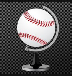 baseball baseball globe isolated over vector image vector image
