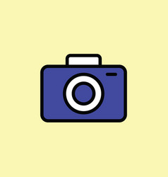 camera icon thin line on color background vector image vector image