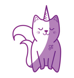 cute cat icon vector image