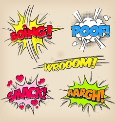 Grunge Comic Sounds set vector image vector image