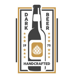 handcrafted beer retro isolated sign vector image vector image