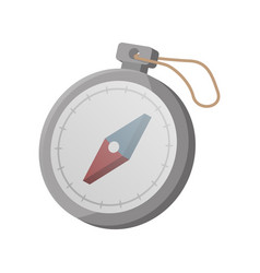 Tourist compass isolated icon vector