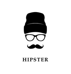 hipster face vector image vector image