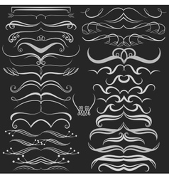 Set of hand drawn doodle design elements on vector