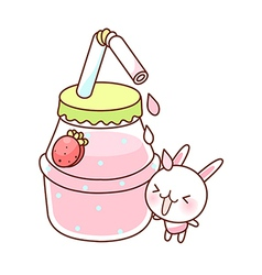 A strawberry milk vector image