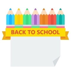 back to school pencil sheet vector image vector image