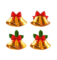 Christmas bells set vector image