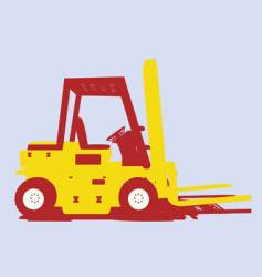Fork lift vector image vector image