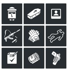 Killer icons set vector