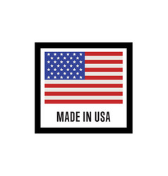 made in usa isolated label for products vector image vector image