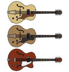 Old electric guitars vector image vector image