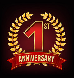 1 year anniversary banner one first vector image