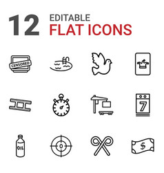 12 icons vector image