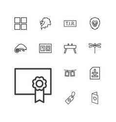 13 template icons vector