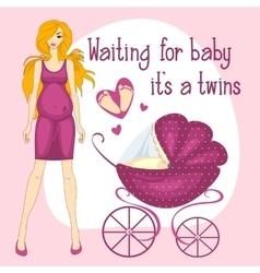 a pregnant women waiting for vector image