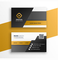 abstract geometric style business card design vector image