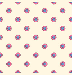 abstract polka dots seamless pattern hand drawn vector image