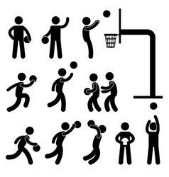 basketball player icon sign symbol pictograph vector image