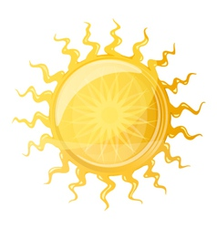 Big Sun with Wavy Rays vector