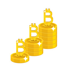 bitcoin letter stack vector image