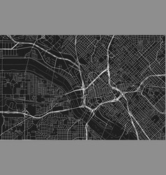 Black map dallas vector