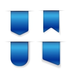 Blue Ribbon set vector