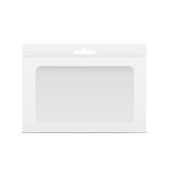 box mockup with window vector image