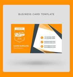 business card template with logo vector image