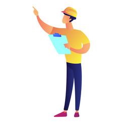 businessman in construction helmet holding vector image