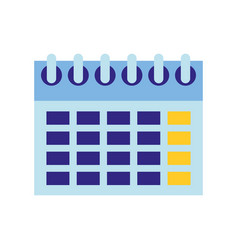 calendar date reminder plan isolated image vector image