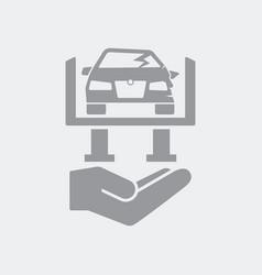 Car repair services icon vector
