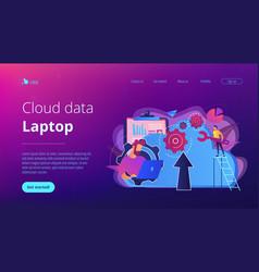 Cloud engineering concept vector
