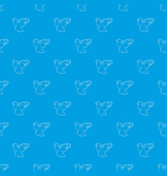 clown face pattern seamless blue vector image