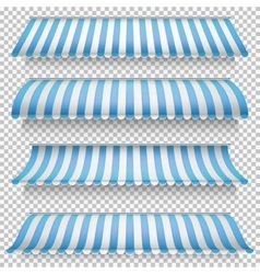 Colored awnings set EPS 10 vector