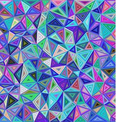 Colorful chaotic triangle mosaic tile background vector