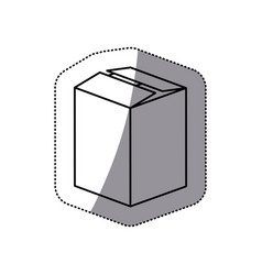 Contour box closed icon vector