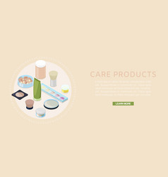 cosmetics and skin care banner vector image