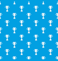 Cup for win pattern seamless blue vector