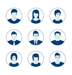 default avatar profile icon set man and woman vector image