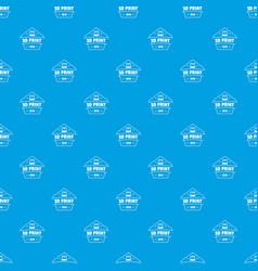 design 3d printing pattern seamless blue vector image