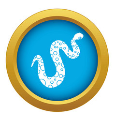 Dotted snake icon blue isolated vector