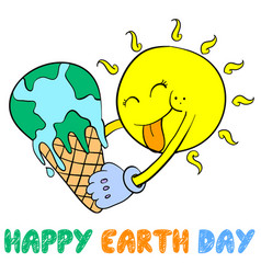 earth day style design collection vector image